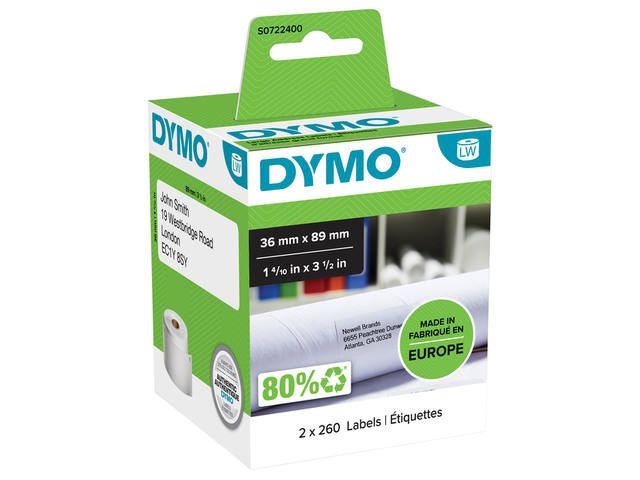 LABEL ETIKET DYMO 99012 36MMX89MM ADRES 5