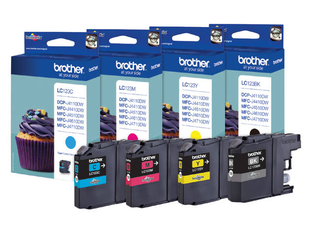 INKCARTRIDGE BROTHER LC-123 ZWART 3