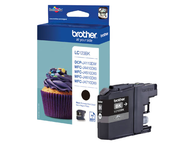 INKCARTRIDGE BROTHER LC-123 ZWART 1
